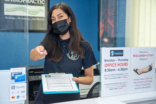 Chiropractic Temple City CA Welcome Paperwork