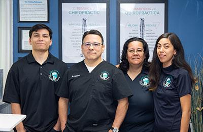 Chiropractor Temple City CA James Caldero With Team