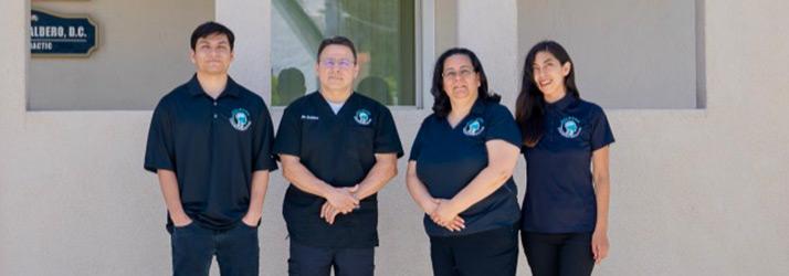 Chiropractor Temple City CA James Caldero with Staff